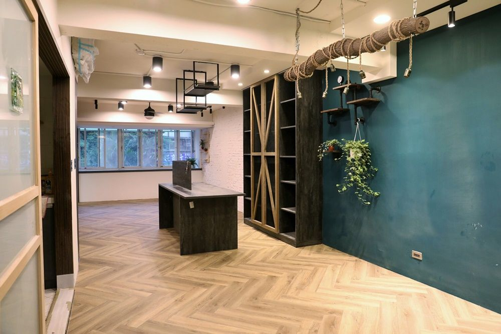 Project Industrial Style House Green Flor